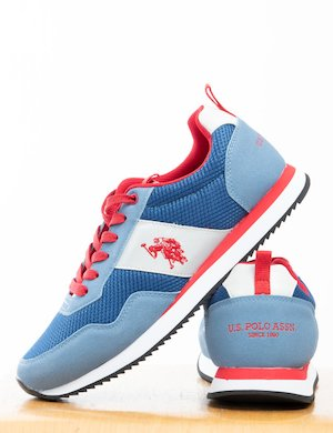 Sneakers U.S. Polo Assn. in tessuto ed ecopelle