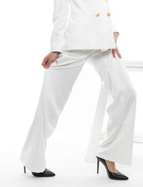 Pantalone TOY G con bottoni decorati - Bianco