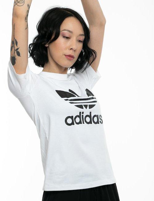 T-shirt Adidas con logo stampato - Bianco