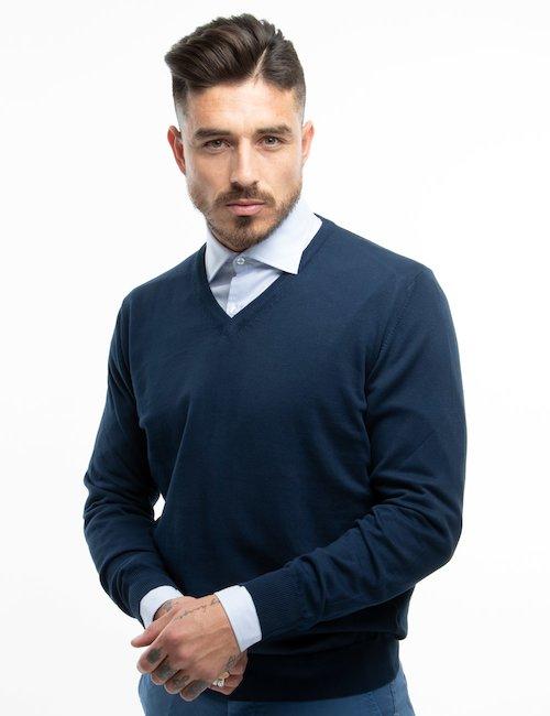 Maglia Nick Logan di cotone - Blue_Pearl
