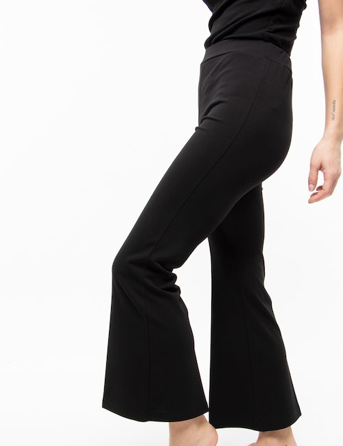 Pantalone Vougue a gamba dritta - Black_Turquoise