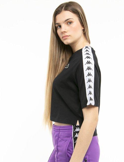 T-shirt Kappa crop - Nero