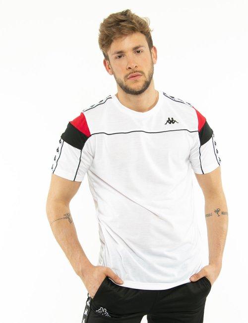 T-shirt Kappa con logo - Bianco