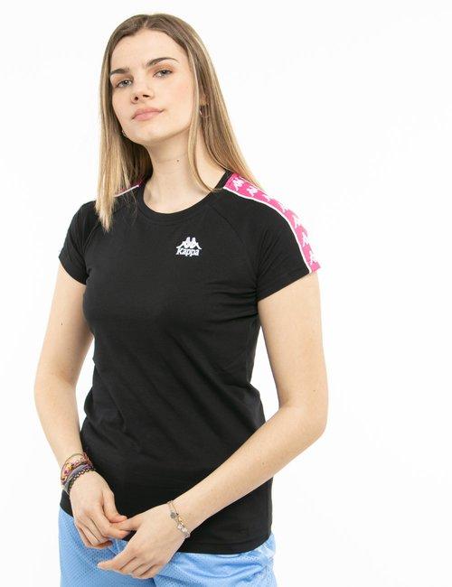 T-shirt Kappa con bande laterali - Nero