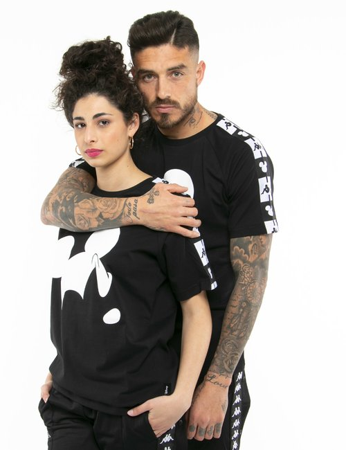 T-shirt Kappa con stampa Mickey Mouse - Nero
