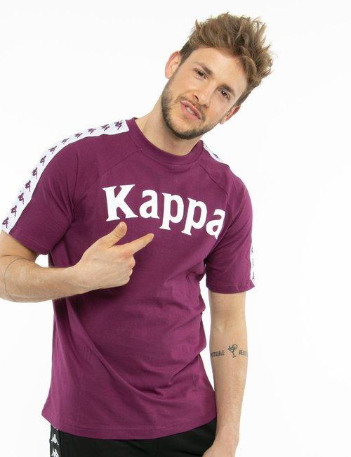 T-shirt Kappa con logo stampato - Bordeaux