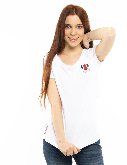 T-shirt Invicta love - Bianco