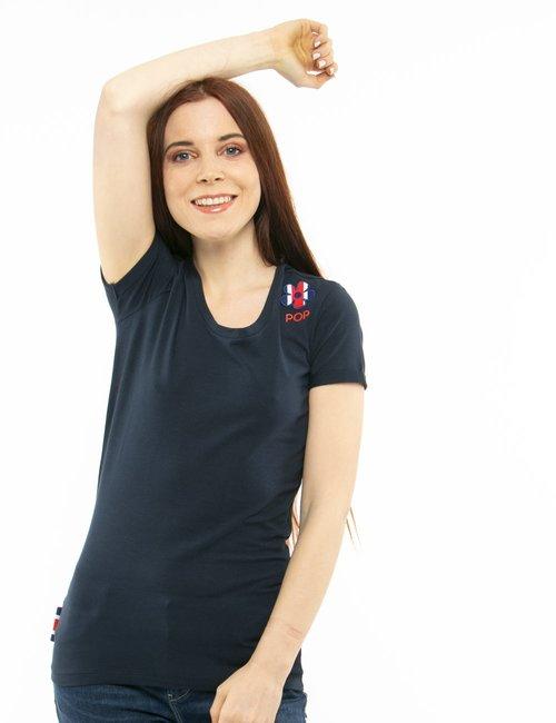 T-shirt Invicta flower - Blu