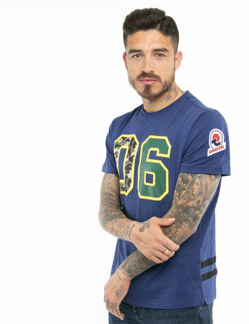 T-shirt Invicta con stampe - Blu