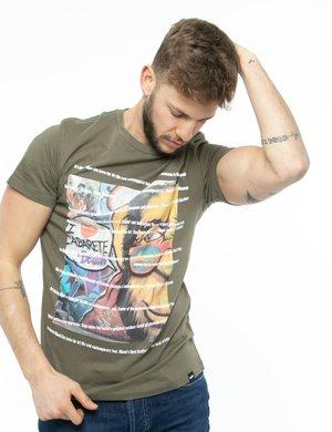 T-shirt Gas stampata