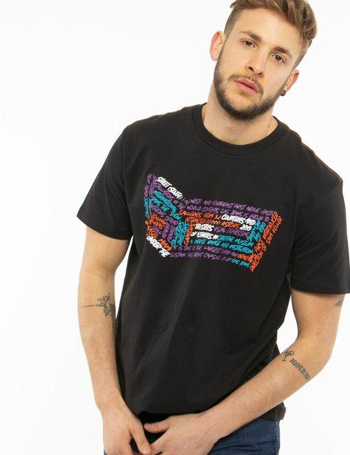 T-shirt Gas con scritte - Nero