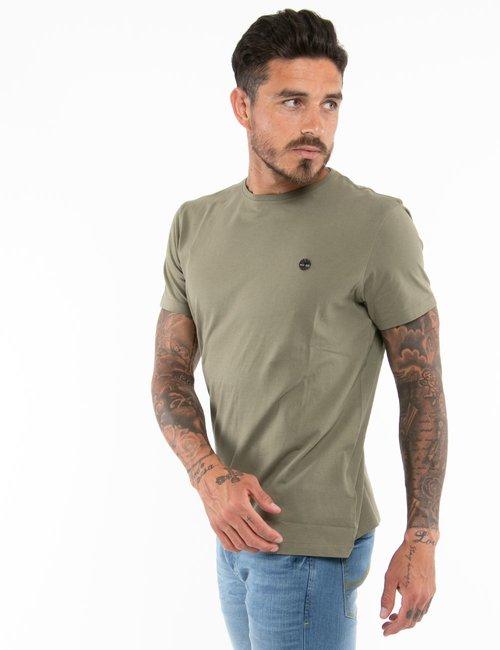 T-shirt Timberland con logo ricamato a lato - Verde