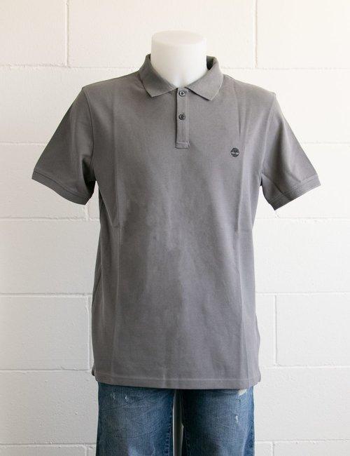 Polo Timberland con logo ricamato - Grigio
