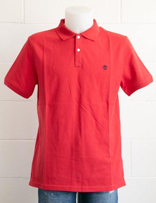 Polo Timberland con logo ricamato - Rosso