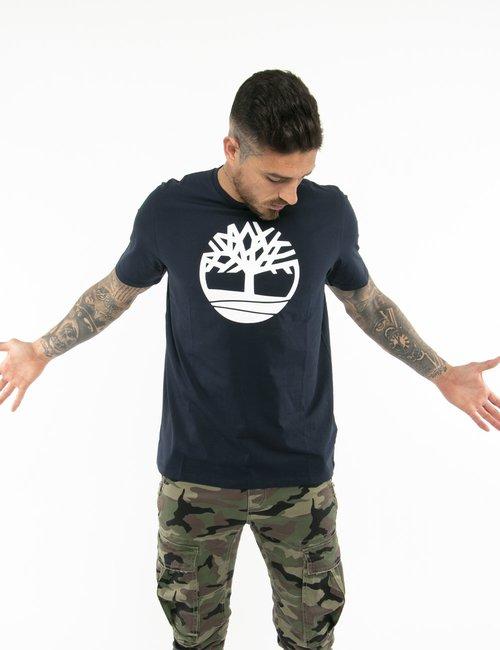 T-shirt Timberland con logo circolare - Blu