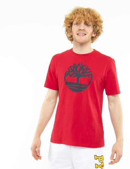 T-shirt Timberland con logo circolare - Rosso