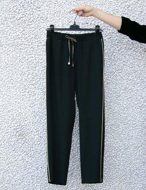 Pantalone Vougue con bordo glitterato