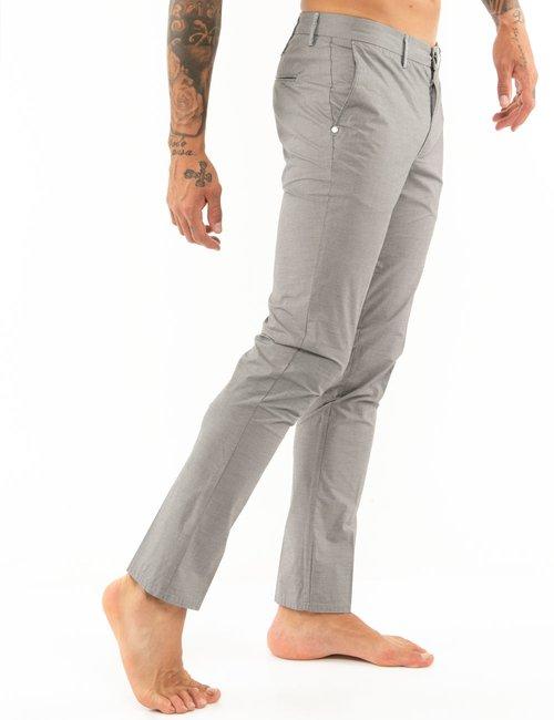 Pantalone Dimattia tessuto con microlinee - Grigio