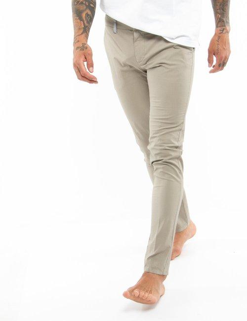 Pantalone Dimattia tessuto in rilievo - Beige