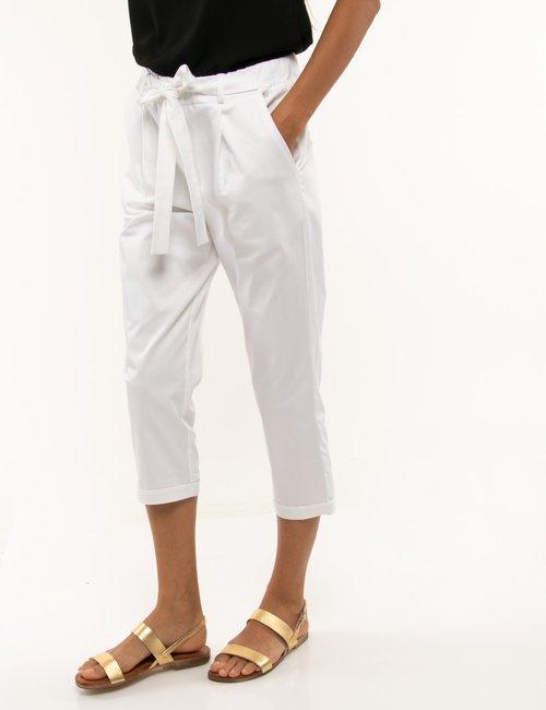 Pantalone Vougue con risvolto - Bianco
