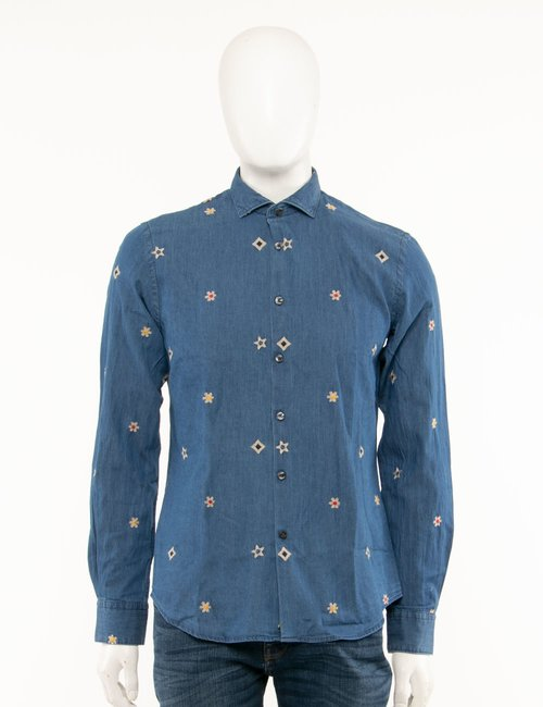 Camicia Yes Zee con ricami - Jeans