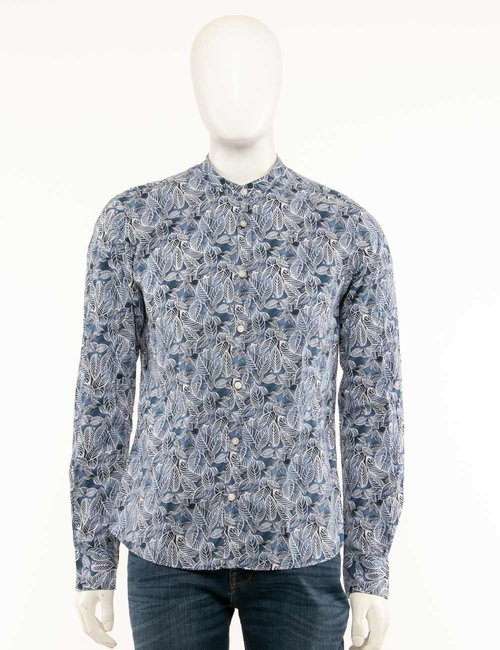 Camicia Yes Zee floreale - Blu
