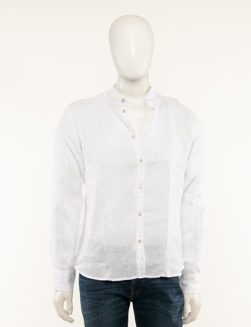 Camicia Yes Zee in lino - Bianco