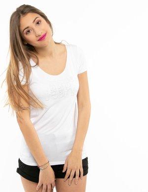 T-shirt Pepe Jeans con scritta e scollo ampio