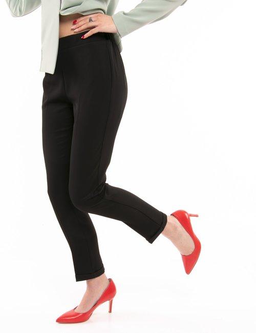 Pantalone Vougue con elastico in vita - Nero