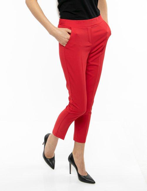 Pantalone Vougue elasticizzato in vita - Rosso