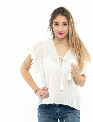 Top Pepe Jeans ricamato