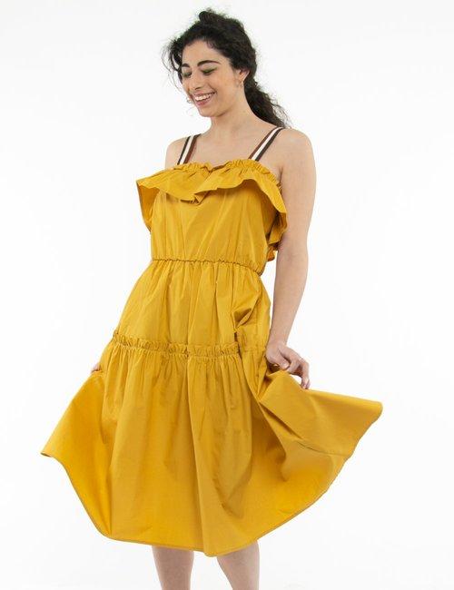 Vestito Fracomina arricciato - Giallo