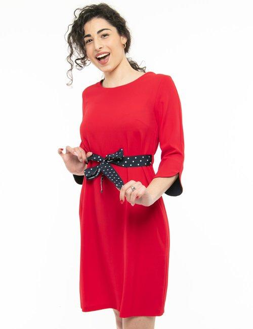 Vestito Fracomina con cintura in tessuto - Rosso