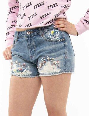 Shorts Fracomina con perline