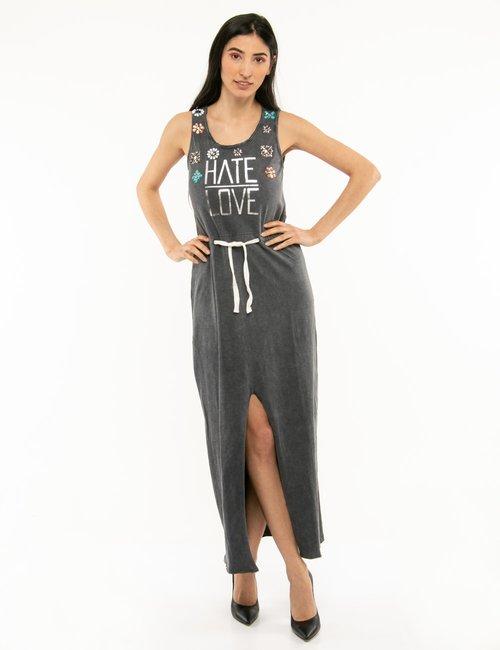 Vestito Imperfect con spacco anteriore - Grigio