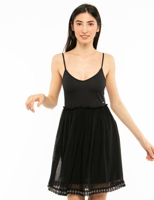 Vestito Imperfect con spalline - Nero