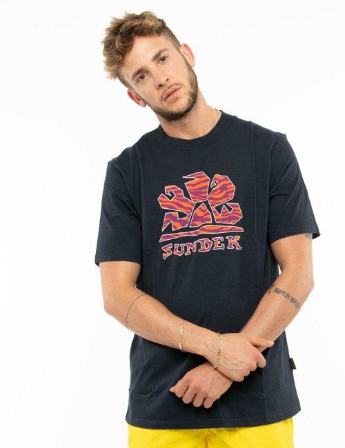 T-shirt Sundek con logo colorato - Blu