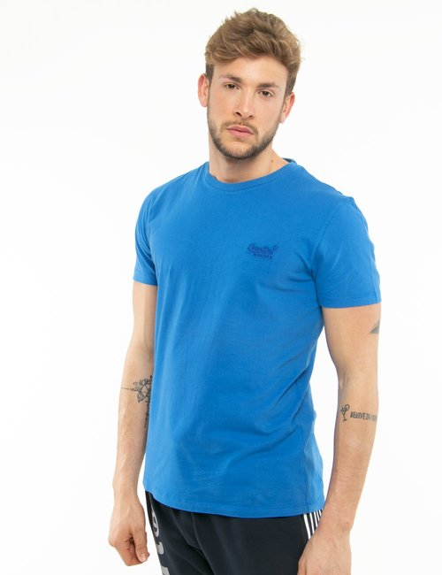 T-shirt Superdry con logo ricamato - Blu