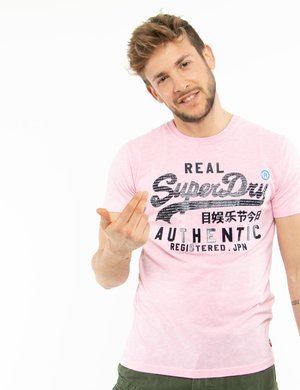 T-shirt Superdry con logo in gomma