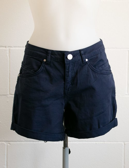 Shorts Yes Zee con risvolto - Blu