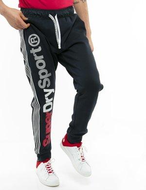 Pantalone Superdry con logo e bande laterali in rilievo