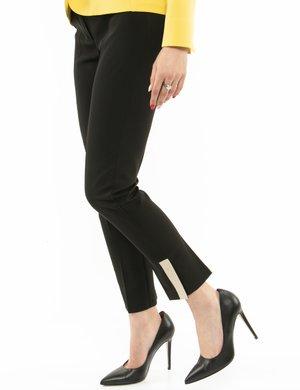 Pantalone Vougue con spacco a contrasto
