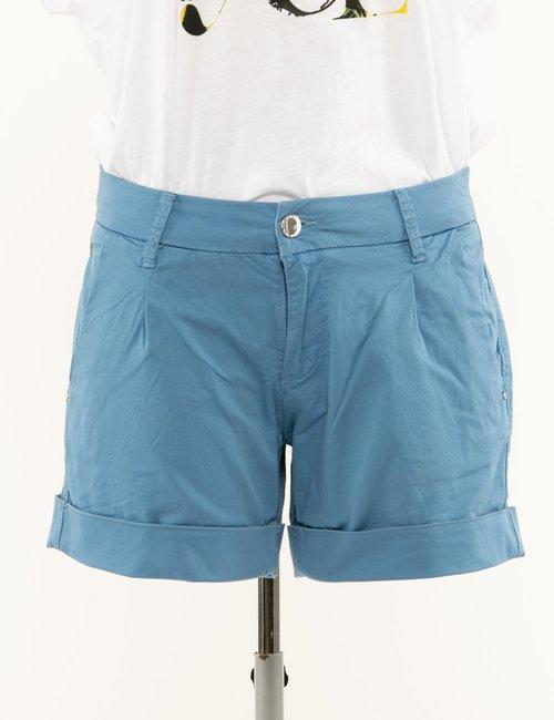 Shorts Yes Zee con risvolto - Azzurro