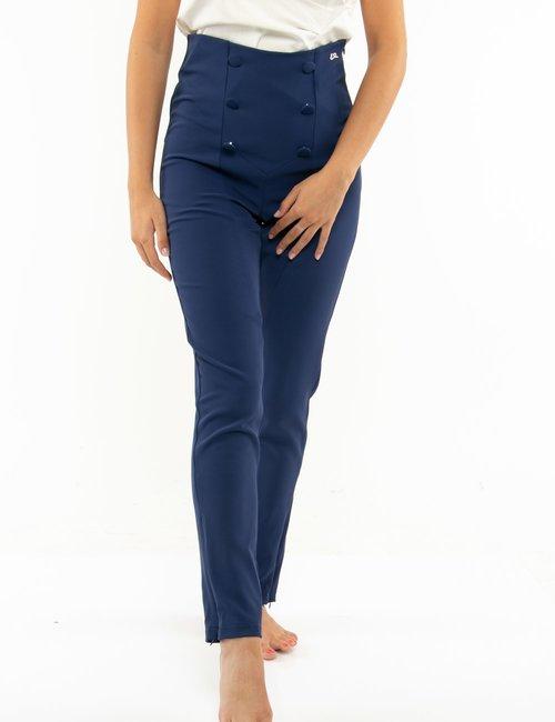 Pantalone Yes Zee con bottoni decorativi - Blu