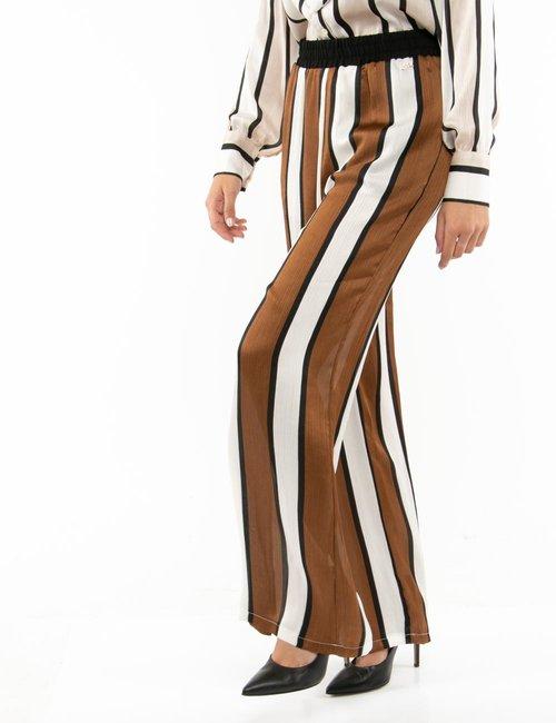 Pantalone Yes Zee a righe - Marrone