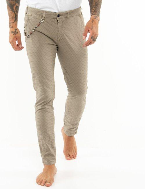 Pantalone Yes Zee tessuto lavorato - Beige
