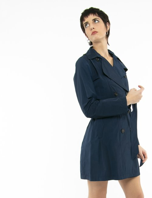 Trench Vougue in tessuto leggero - Blu