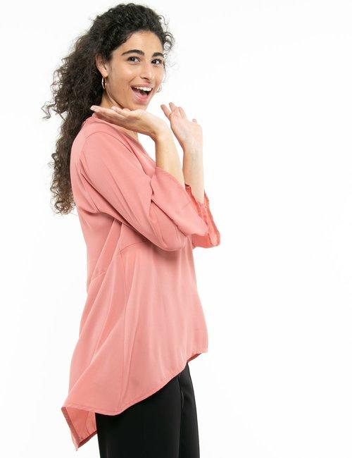 Camicia Vougue con scollo a V - Rosa