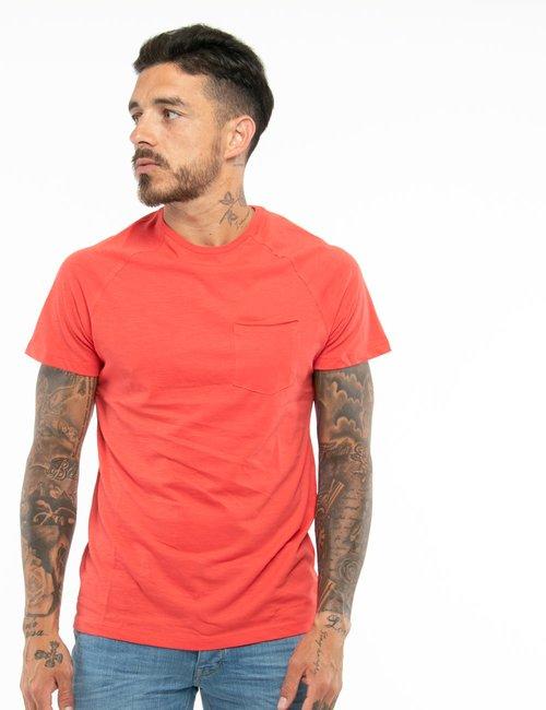 T-shirt Smiling London con taschino - Rosso