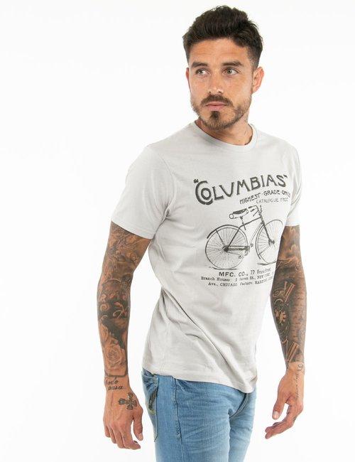 T-shirt Smiling London con stampa - Grigio